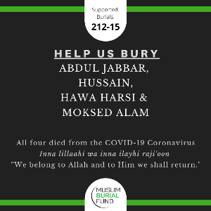 COVID-19 victims' burial appeal for four Muslims