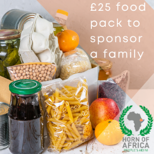 £25 food pack to sponsor a family