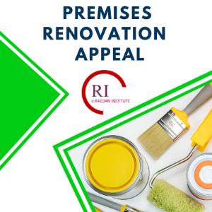 Premises Renovation Appeal