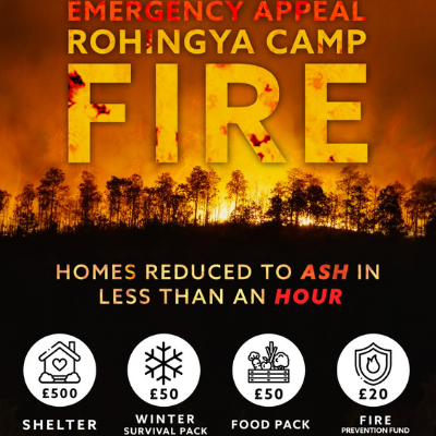Emergency Appeal Rohingya Camp Fire